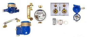 Wasserzähler für Aufputz und Unterputzmontage, Austauschwasserhähler
