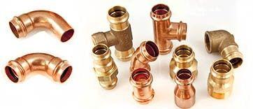 VIEGA Pressfittinge aus Kupfer und Rotguss für die Gasversorgung