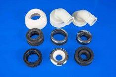 Zulaufverbinder für Druckspüler, Spülkasten, Wandeinbauspülkasten und Urinale