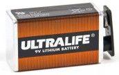ULTRALIVE 9 V Blockbatterie Lithium für Rauchmelder, ER9V