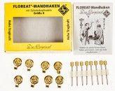 Floreat Wandhaken eisen verm. Gr. 0 Box a 8 Haken mit Nägeln