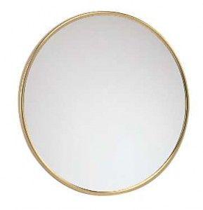 FRAAS Wandspiegel, Messing, 3 x Vergr. 66030x70, 23 cm Durchmesser