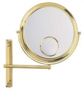 FRAAS Wandspiegel, Messing, 3 x Vergr. 67260930, 27 cm Durchmesser, 1 armig