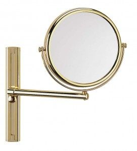 FRAAS Wandspiegel, Messing, 3 x Vergr. 68100830, 19 cm Durchmesser, 1 armig
