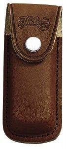 Messertasche 11 cm echt Leder braun mit eingeschnittener Schlaufe
