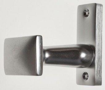 Aluknnopf für Schlosskasten 8 mm F 1 eloxiert, fest drehbar auf Rosette