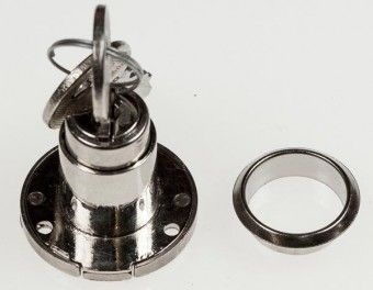 Klappen-Zylinderschloss Huwil 392 2,5 mm Hub, mit 2 Schlüsseln