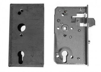 Schiebetor Schlosskasten 40x94,5 mm mit Hakenfalle, 60 mm Dorn, 72 mm Entfernung