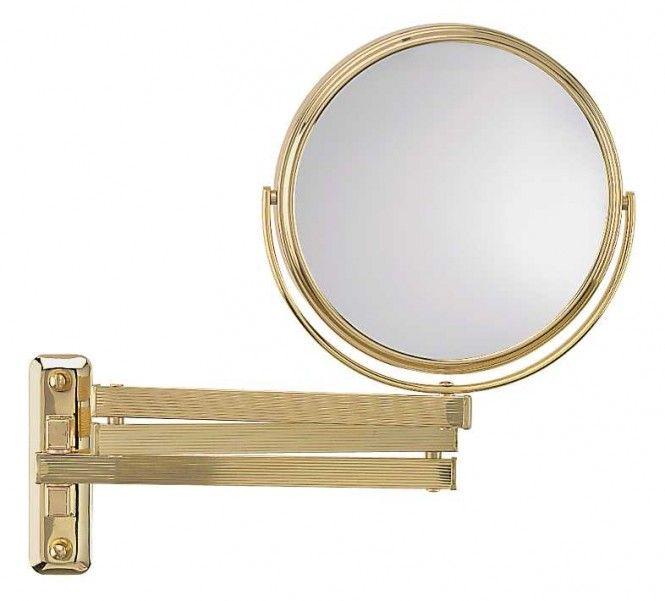 FRAAS Wandspiegel, Messing, 3 x Vergr. 65850730, 16 cm Durchmesser, 3 armig
