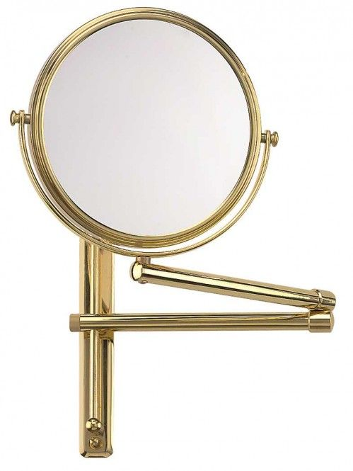 FRAAS Wandspiegel, Messing, 3 x Vergr. 65880930, 27 cm Durchmesser, 2 armig