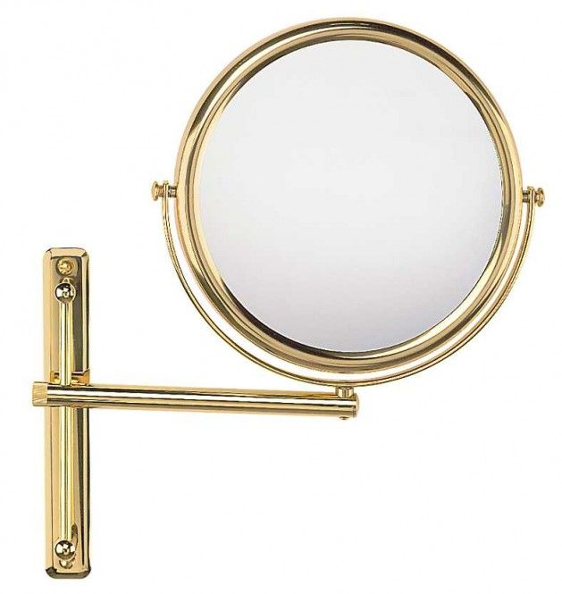 FRAAS Wandspiegel, Messing, 3 x Vergr. 66780x30, 23 cm Durchmesser, 1 armig