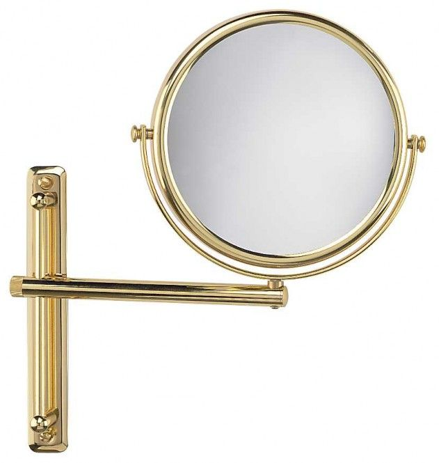 FRAAS Wandspiegel, Messing, 3 x Vergr. 66810830, 19 cm Durchmesser, 1 armig