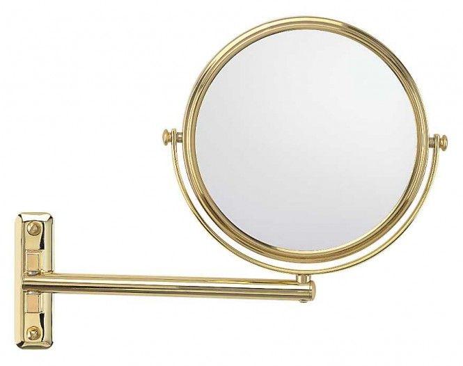 FRAAS Wandspiegel, Messing, 3 x Vergr. 66890830, 19 cm Durchmesser, 1 armig