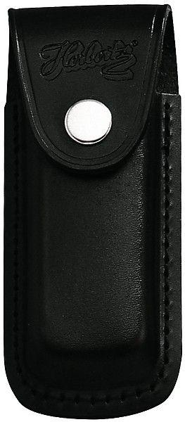 Messertasche 13 cm echt Leder schwarz mit eingeschnittener Schlaufe