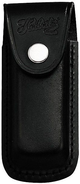 Messertasche 11 cm echt Leder schwarz mit eingeschnittener Schlaufe