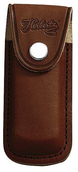 Messertasche 13 cm echt Leder braun mit eingeschnittener Schlaufe
