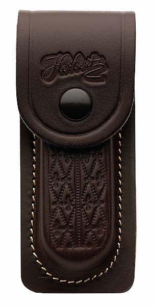 Messertasche braun für Messer mit 13 cm Heftlänge, mit eingeschnittener Schlaufe
