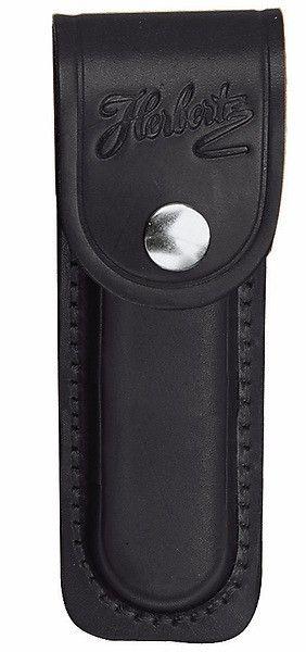 Messertasche schwarz für Messer m. 10 cm Heftlänge, mit eingeschnittener Schlaufe