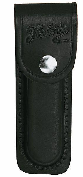 Messertasche schwarz für Messer m. 13 cm Heftlänge, mit eingeschnittener Schlaufe