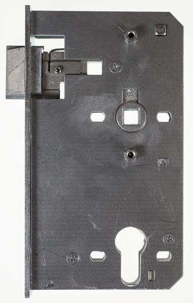 Ersatzschloss 40 mm PZW f. Schlosskasten 60 mm Dorn, 72 mm Entfernung