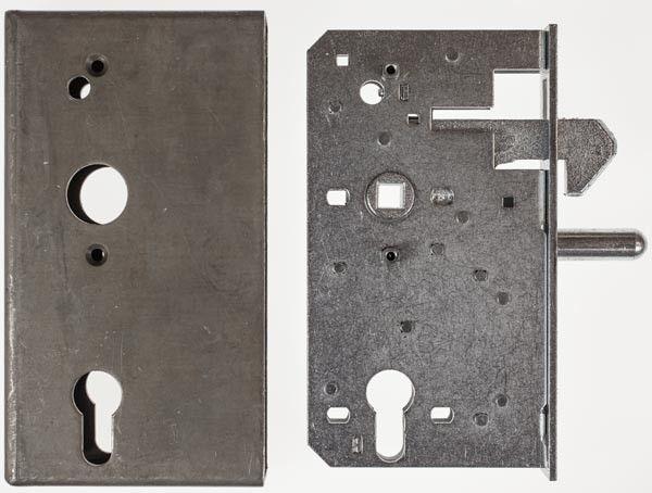 Schiebetor Schlosskasten 30x94,5 mm mit Hakenfalle, 60 mm Dorn, 72 mm Entfernung