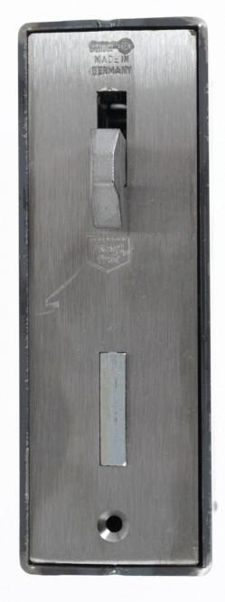 Schiebetor Schlosskasten 60x94,5 mm mit Hakenfalle, 60 mm Dorn, 72 mm Entfernung