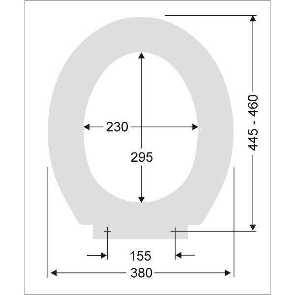 790821607 moosgrün PAGETTE Exklusiv WC-Sitz mit Edelstahl-Befestigung