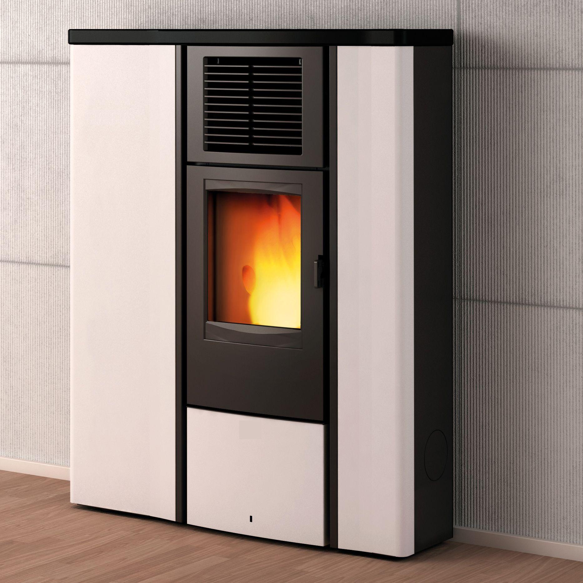 westminster pelletofen po 90 8 5 kw weiss mit schwarzem. Black Bedroom Furniture Sets. Home Design Ideas